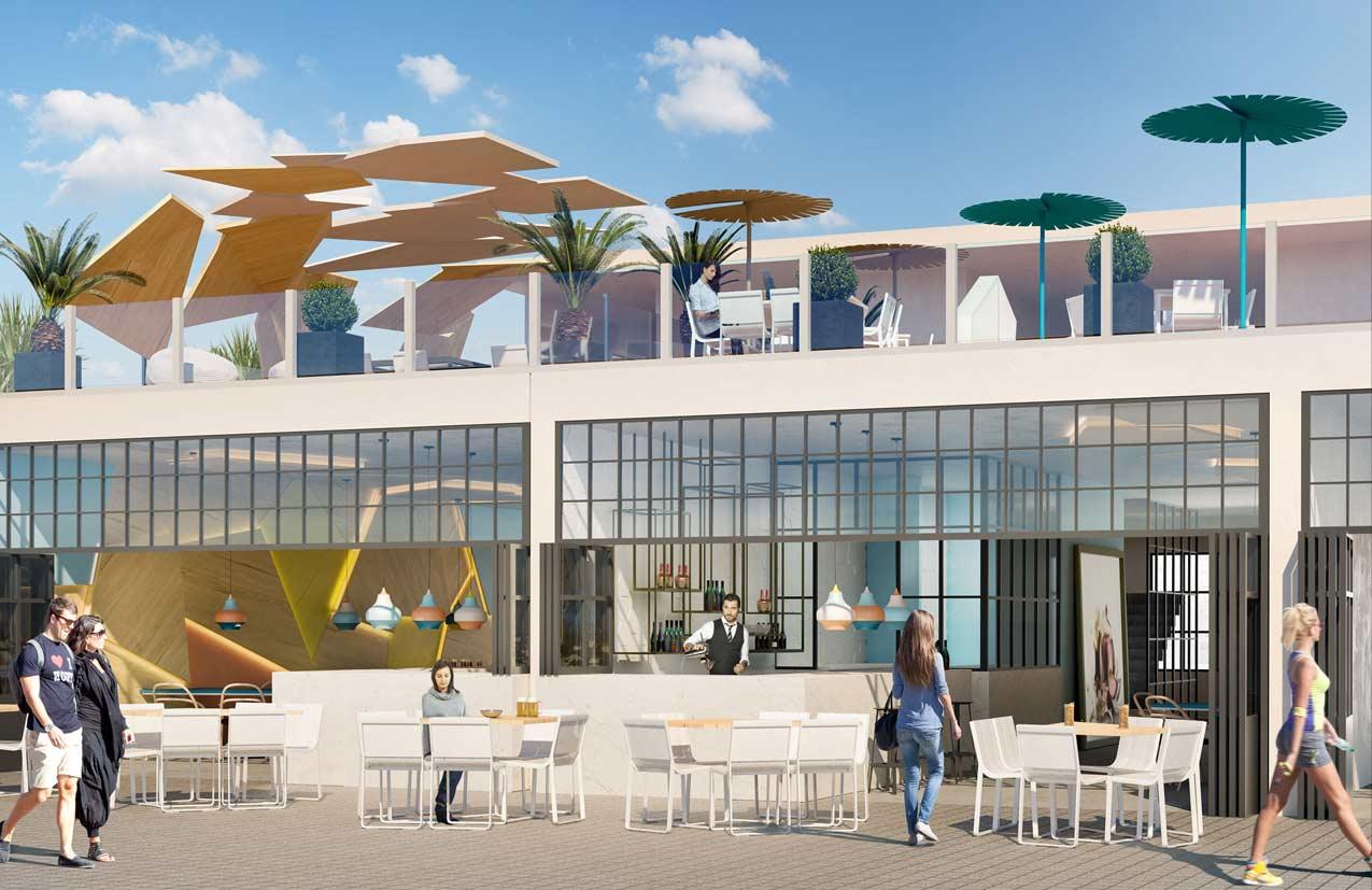 AZULAZULETE · Arquitectura e Interiorismo – Cafeteria Edificio Miramar, Santa Pola, Alicante 2016