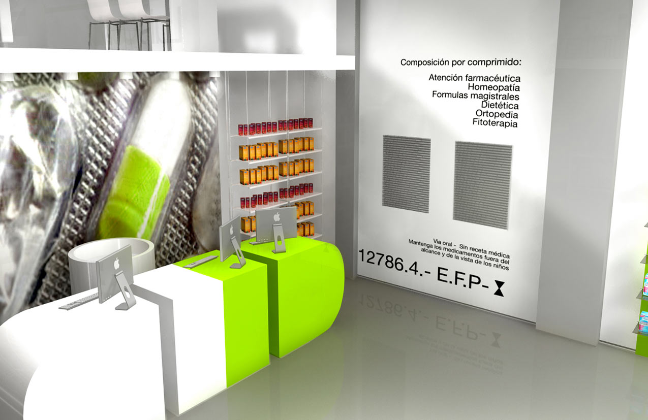 AZULAZULETE · Arquitectura e Interiorismo – Farmacia Luis Corbi, Valencia 2007